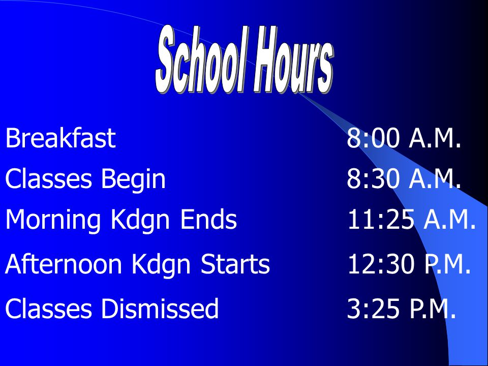 School Safety All doors will be locked by 9:00 a.m.