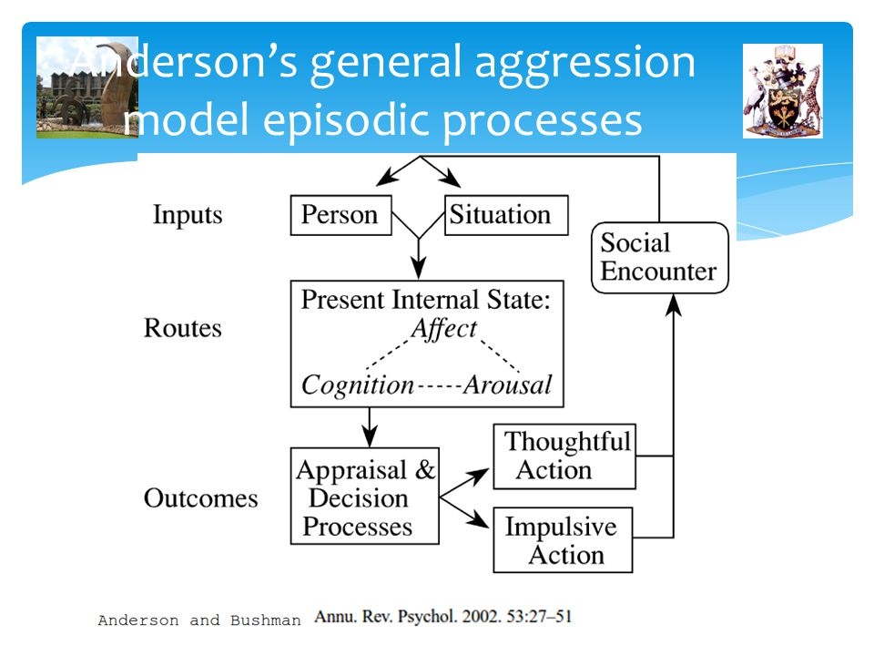 Anderson's general aggression model episodic processes