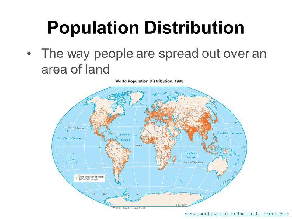 Factors Affecting Population Distribution 1.
