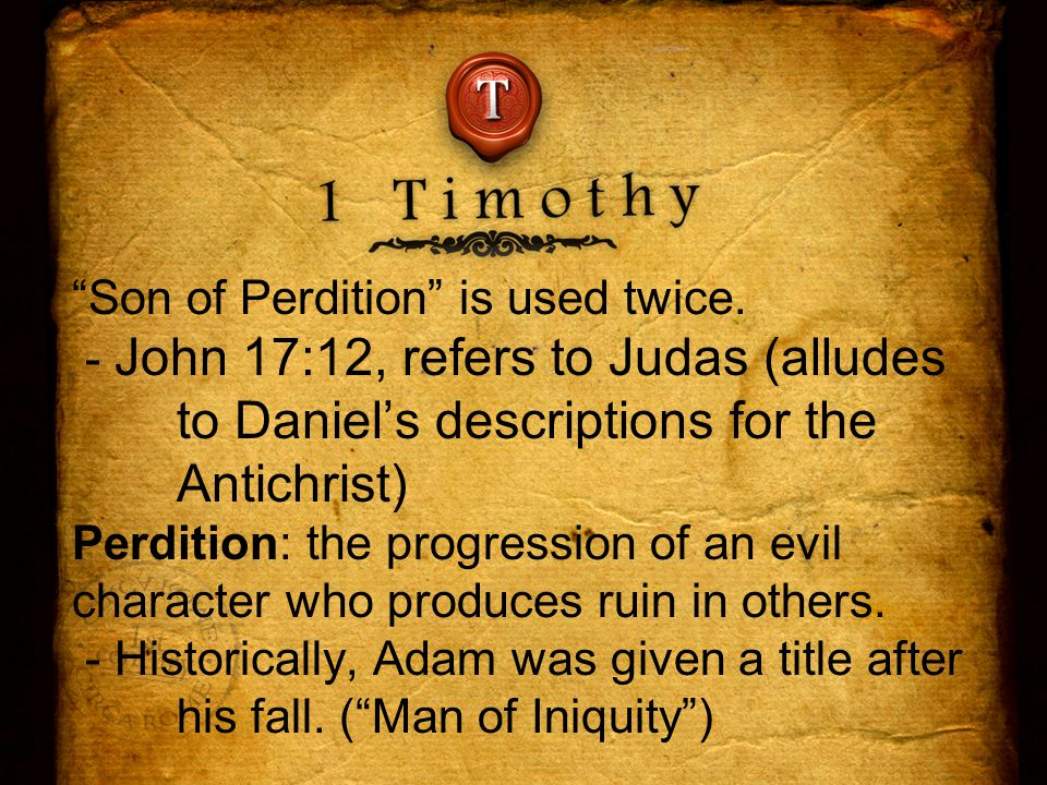 Son of Perdition is used twice.
