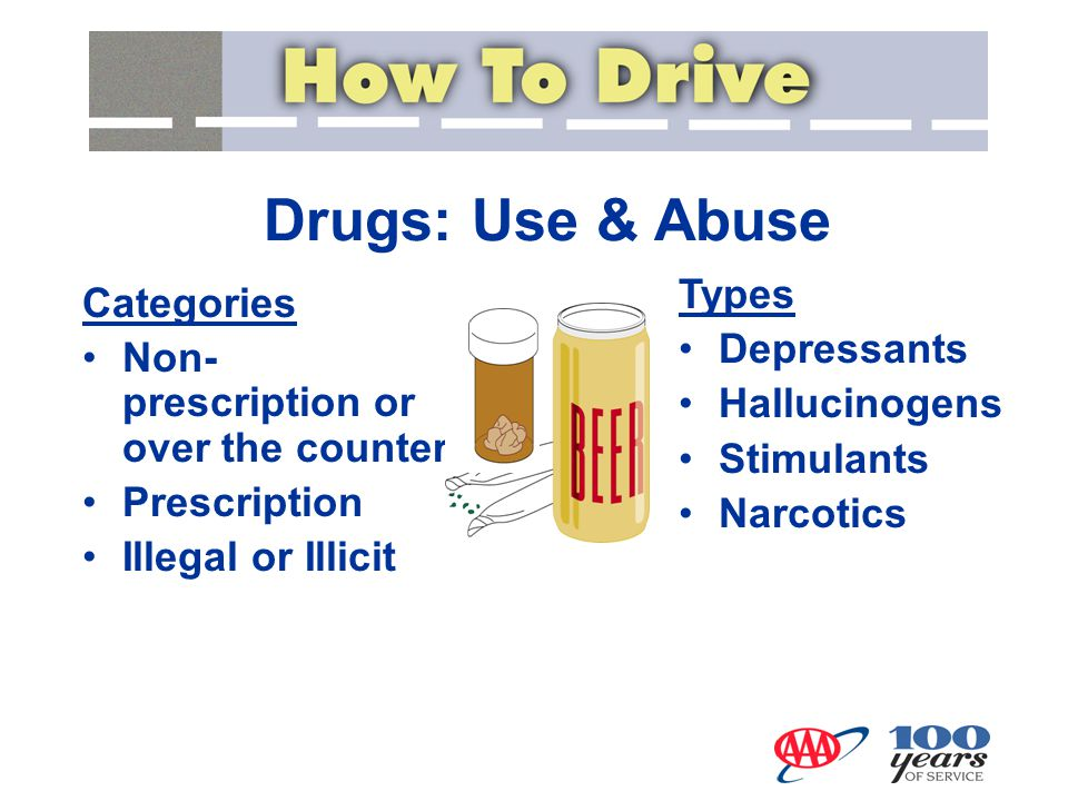 Drugs: Use & Abuse Categories Non- prescription or over the counter Prescription Illegal or Illicit Types Depressants Hallucinogens Stimulants Narcoti