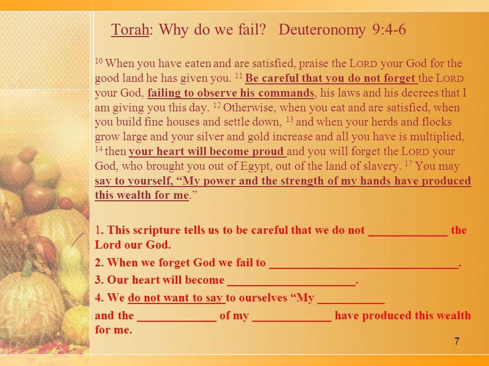 Torah: Why do we fail.