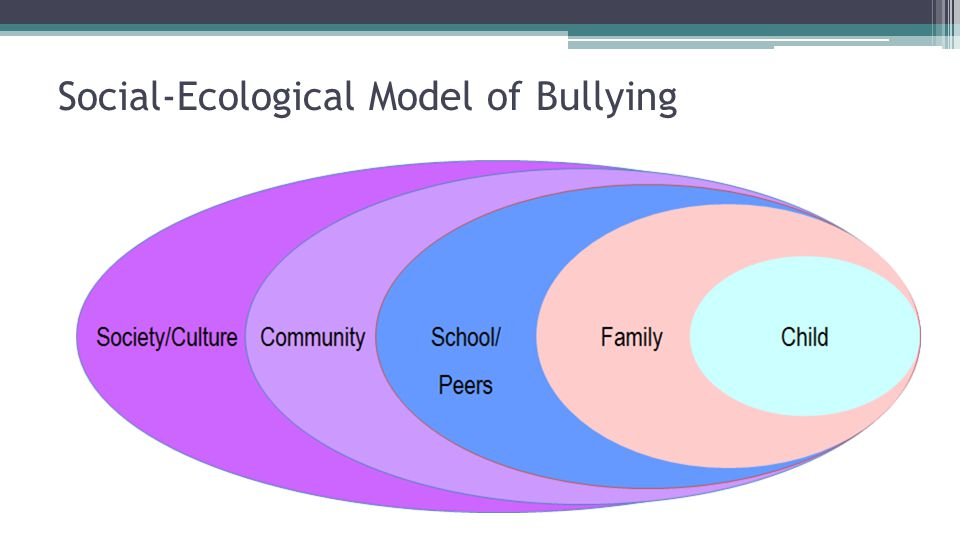 Social-Ecological Model of Bullying