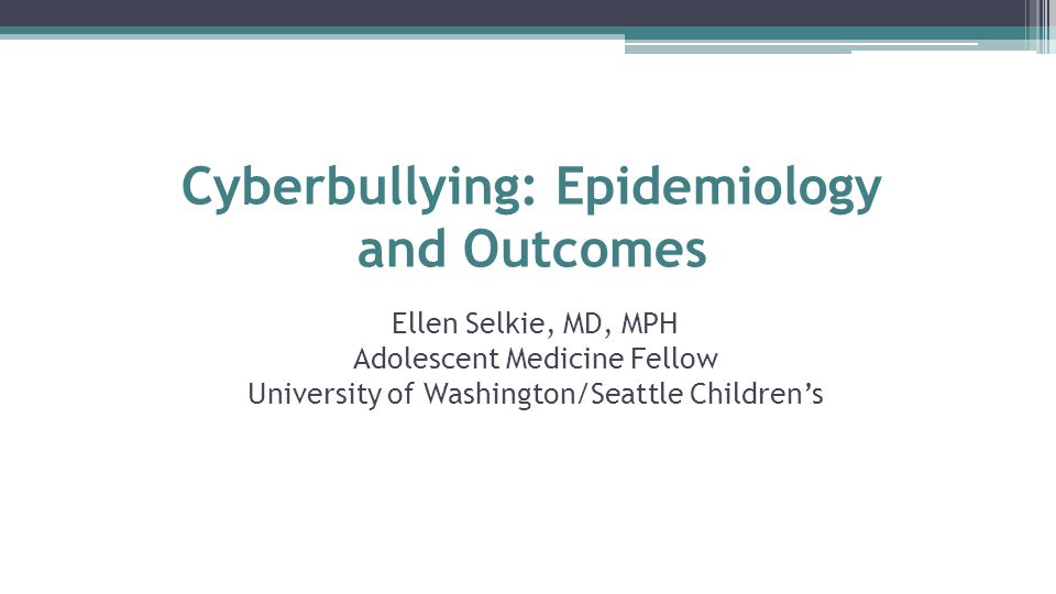 Ellen Selkie, MD, MPH Adolescent Medicine Fellow University of Washington/Seattle Children's