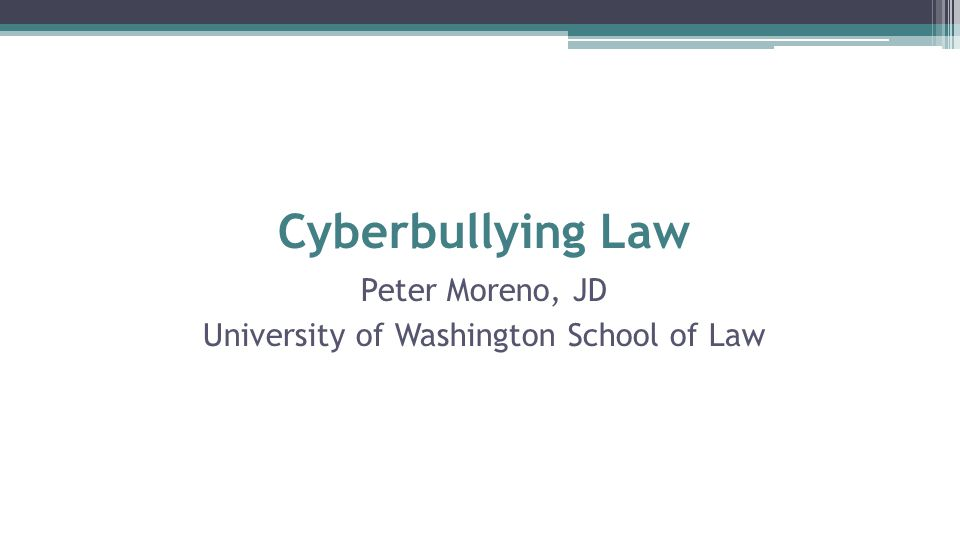 Peter Moreno, JD University of Washington School of Law