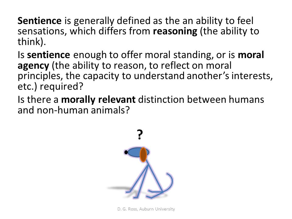 Speciesism: The denial of ethical/moral standing based on species.