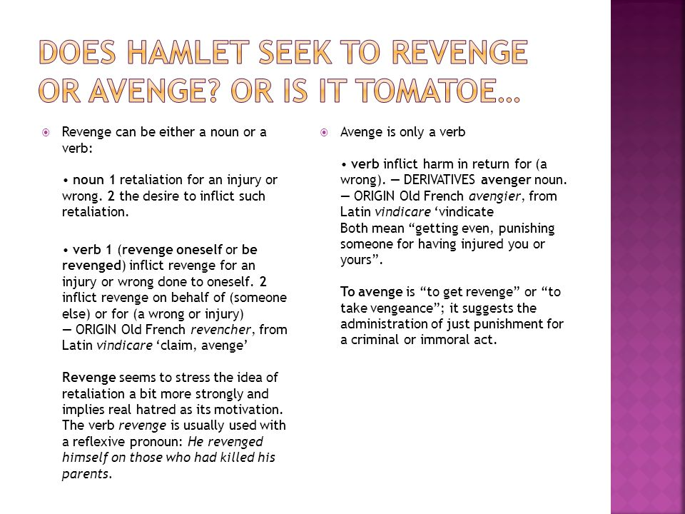  Hamlet is the best example of a revenge play (written in English) as it is a tragedy.