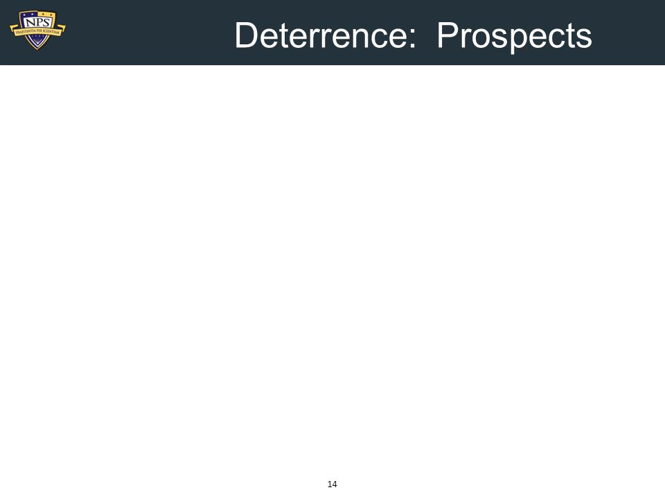 Deterrence: Prospects 14