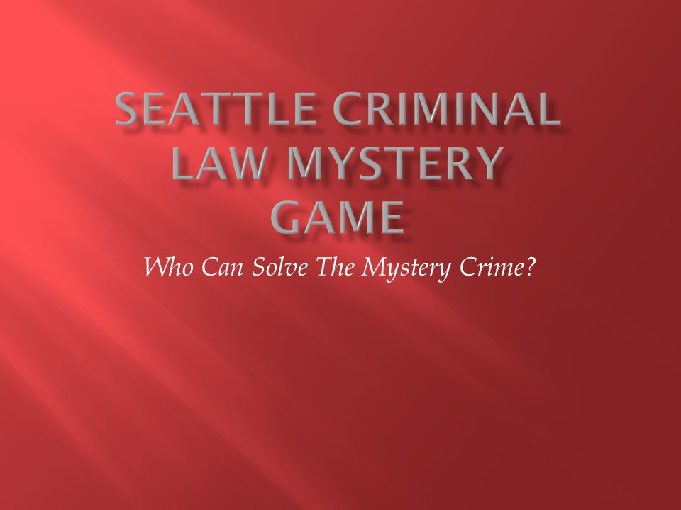 Who Can Solve The Mystery Crime