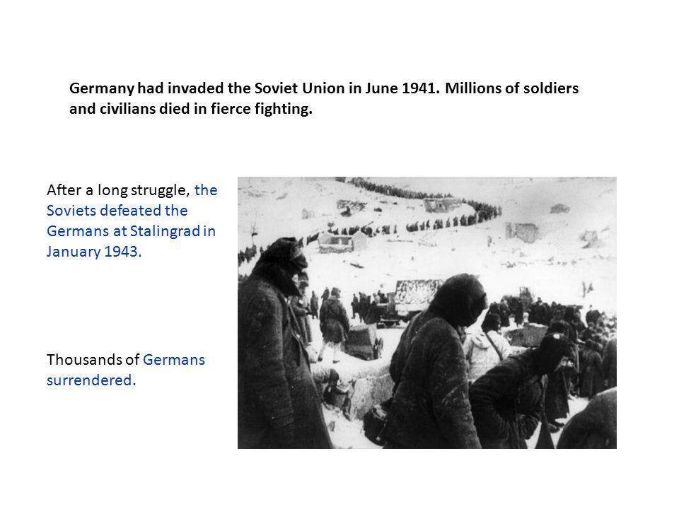 Nazi armies were forced to retreat westward, back toward Germany.