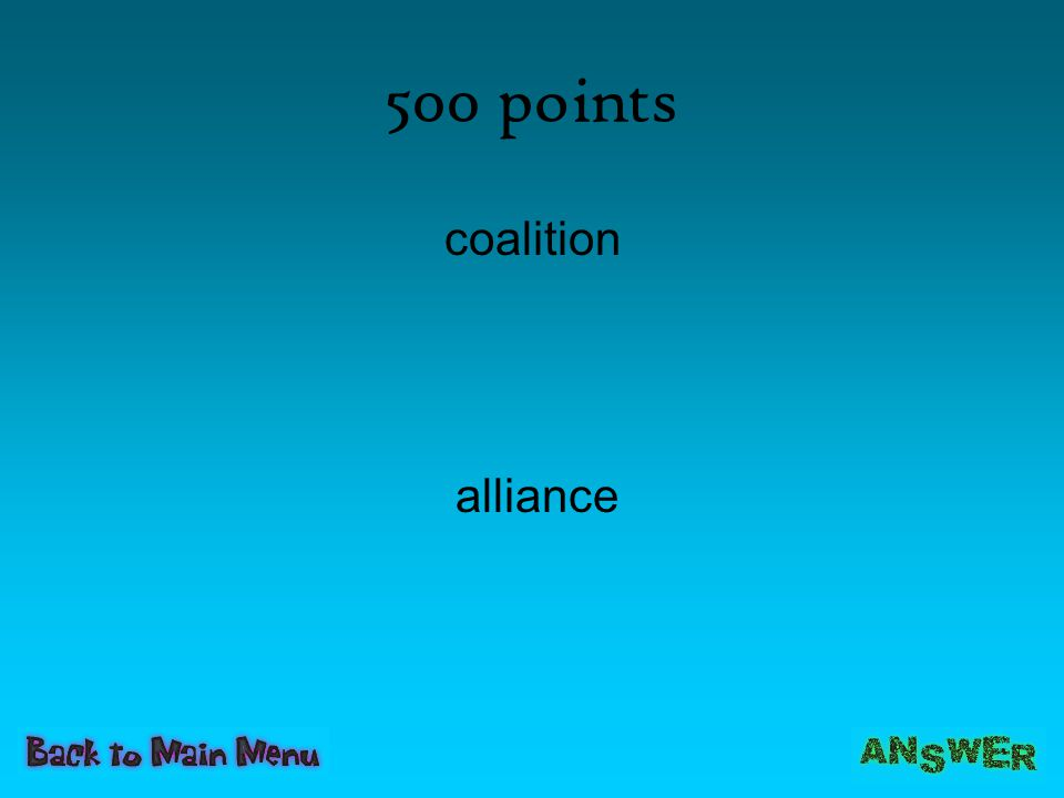 500 points coalition alliance