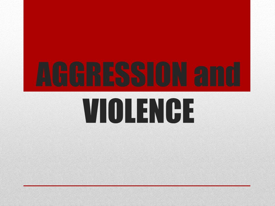 Aggression Aggression- any behavior directed toward intentionally harming or injuring another living being Physical or verbal Can cause mental or physical harm 4 criteria 1-behavior 2-directed towards a living organism 3-Involves harm or injury(intent to inflict harm) 4-Involves intent (did it on purpose) Good aggression=assertiveness