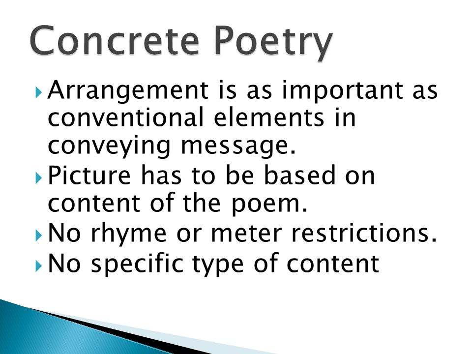  Arrangement is as important as conventional elements in conveying message.
