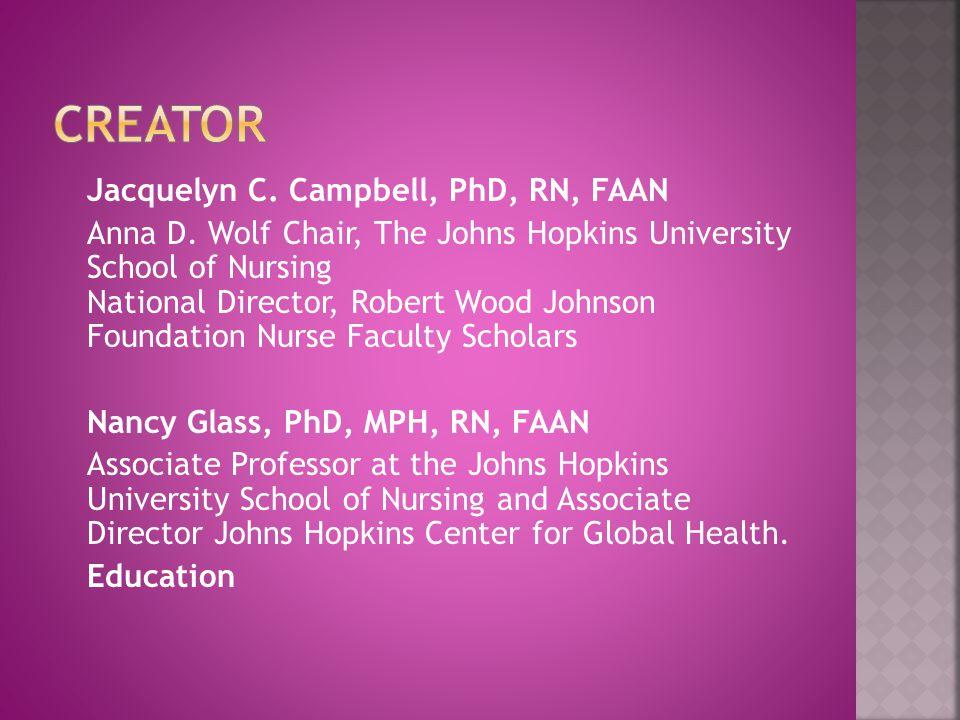 Jacquelyn C. Campbell, PhD, RN, FAAN Anna D.