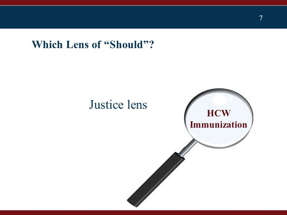 7 Which Lens of Should Justice lens HCW Immunization