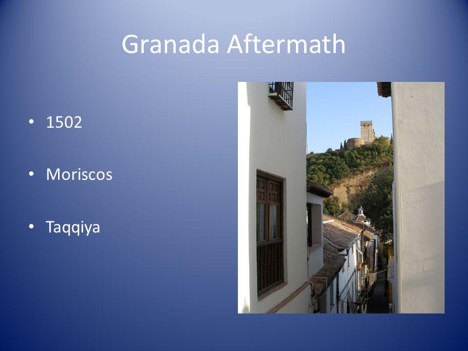Granada Aftermath 1502 Moriscos Taqqiya