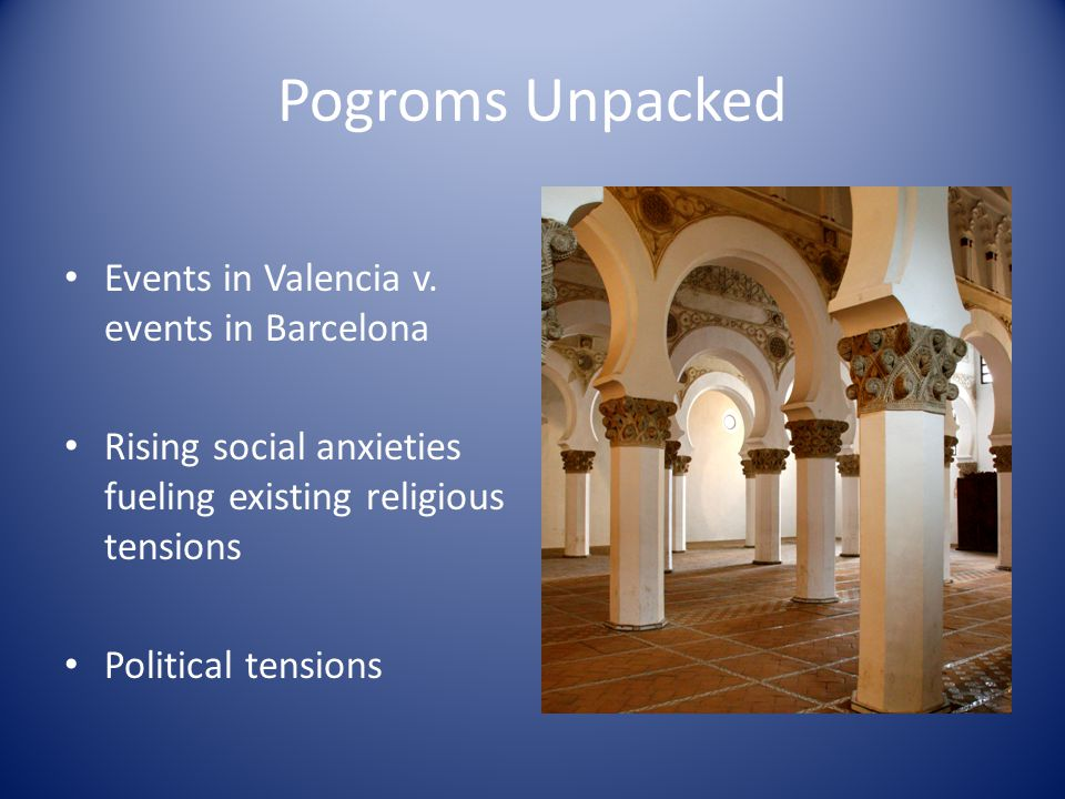 Pogroms Unpacked Events in Valencia v.