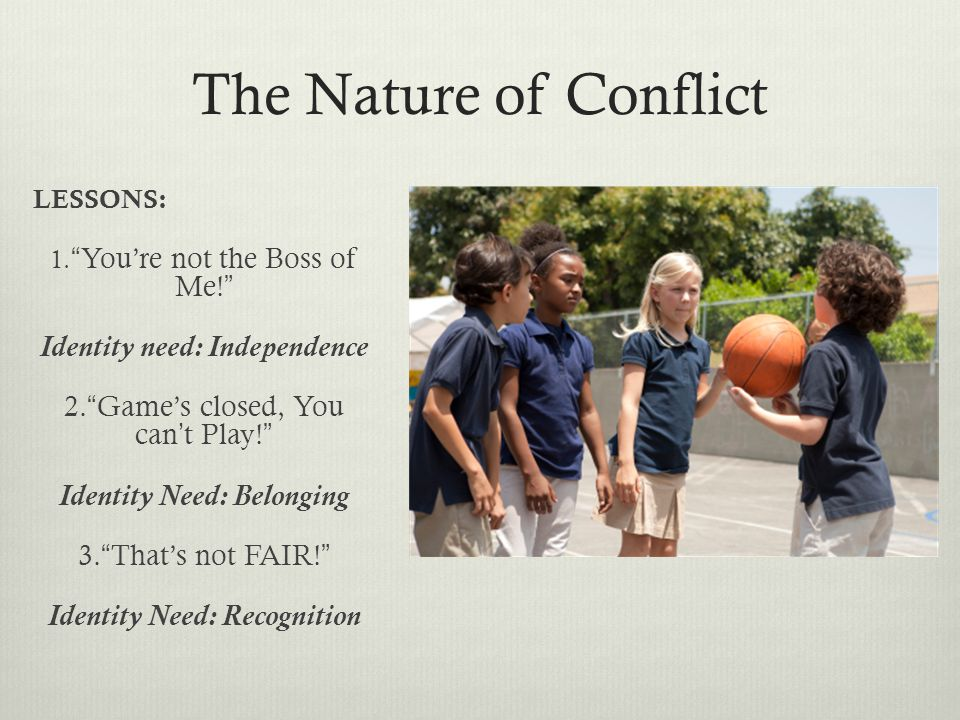 The Nature of Conflict LESSONS: 1.