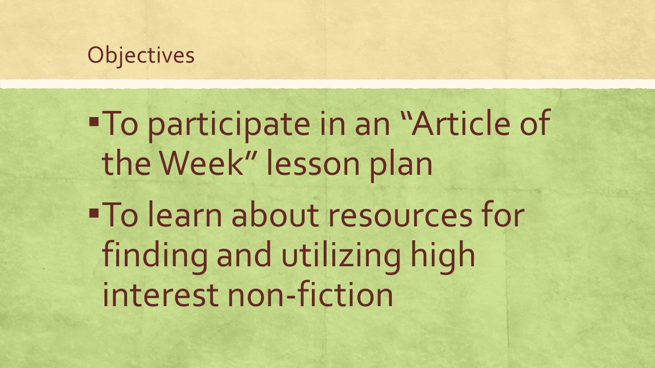 Interacting with the article (Day 3) ▪ Today, we will read, write, listen, and speak while reacting to the article.