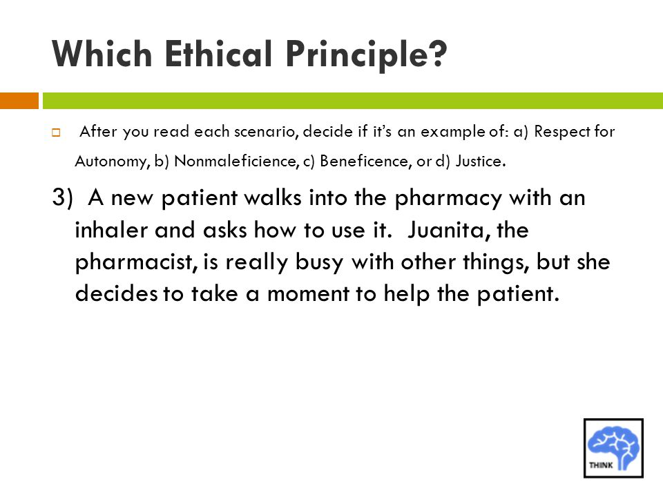 Which Ethical Principle.