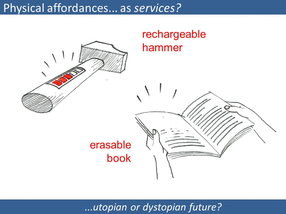 Physical affordances... as services.