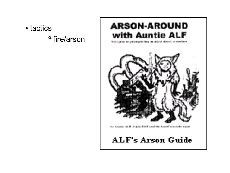 tactics º fire/arson