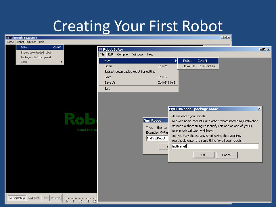 Creating Your First Robot