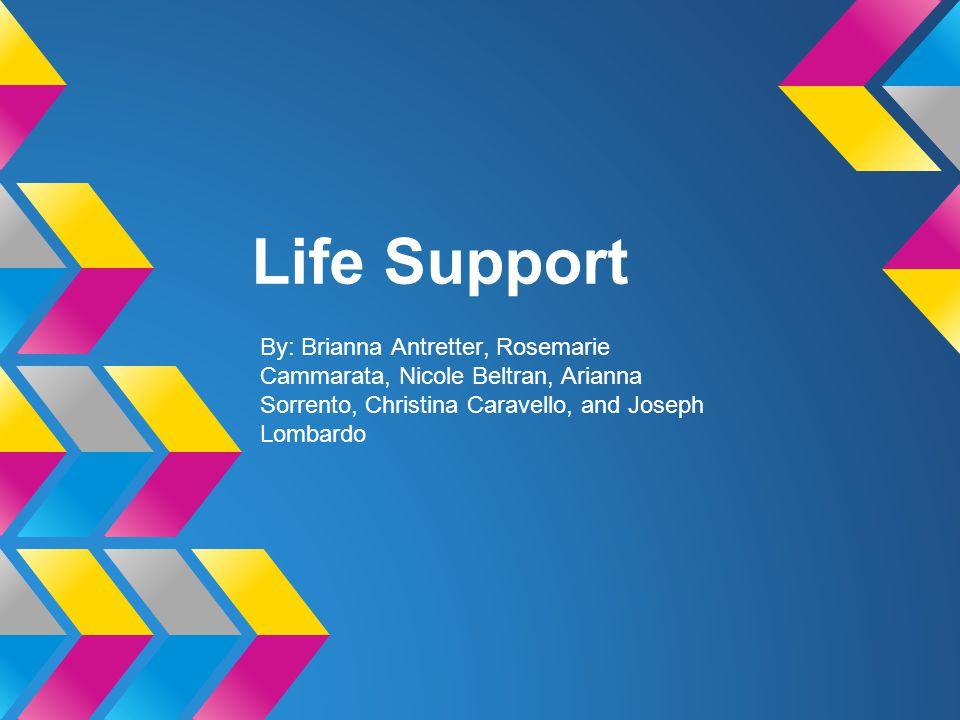 Life Support By: Brianna Antretter, Rosemarie Cammarata, Nicole Beltran, Arianna Sorrento, Christina Caravello, and Joseph Lombardo