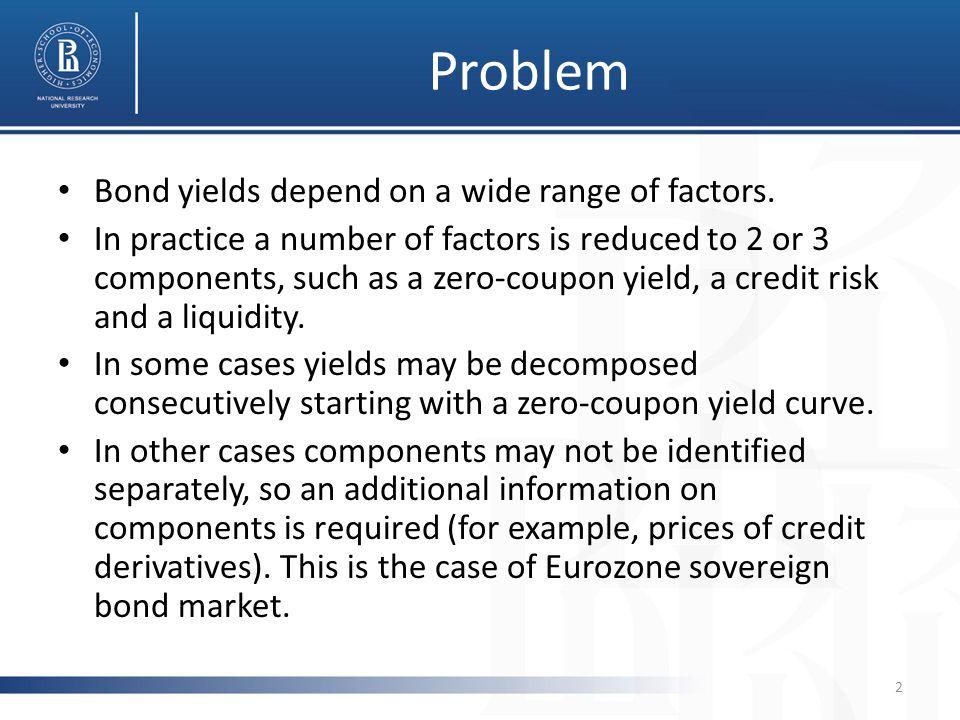 Problem Bond yields depend on a wide range of factors.