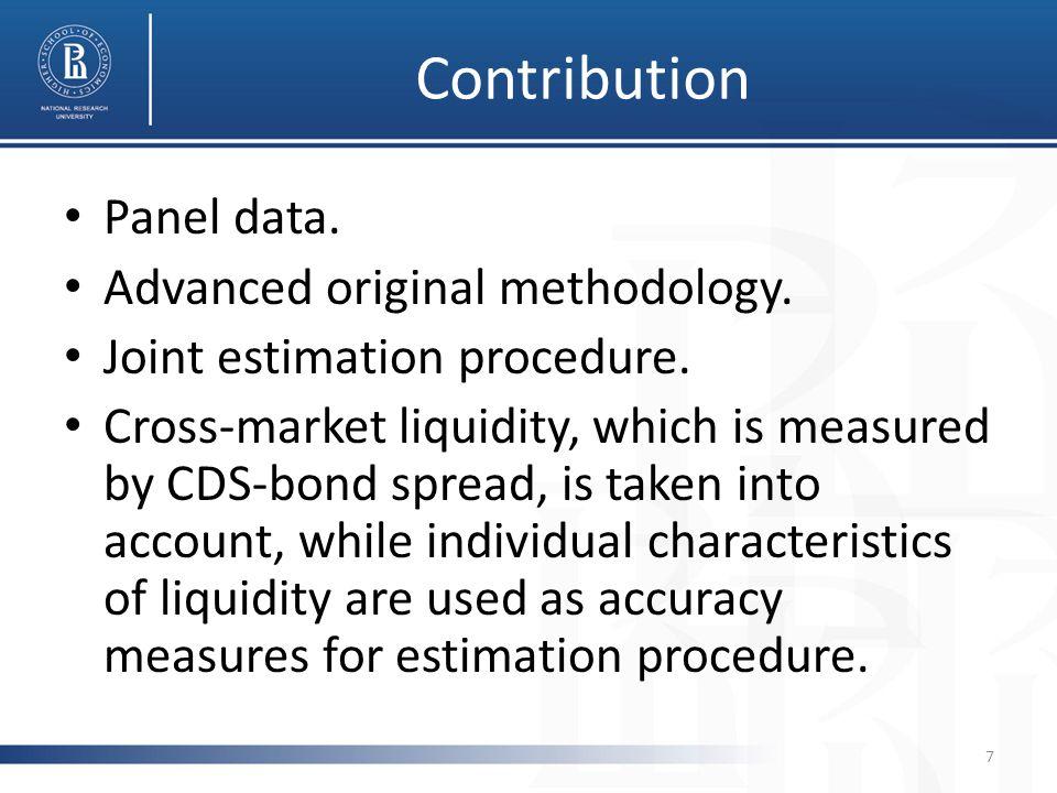 Contribution Panel data. Advanced original methodology.