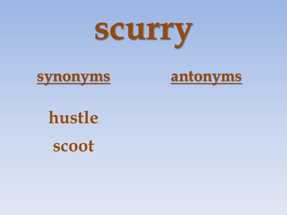 scurry synonymsantonyms hustle scoot