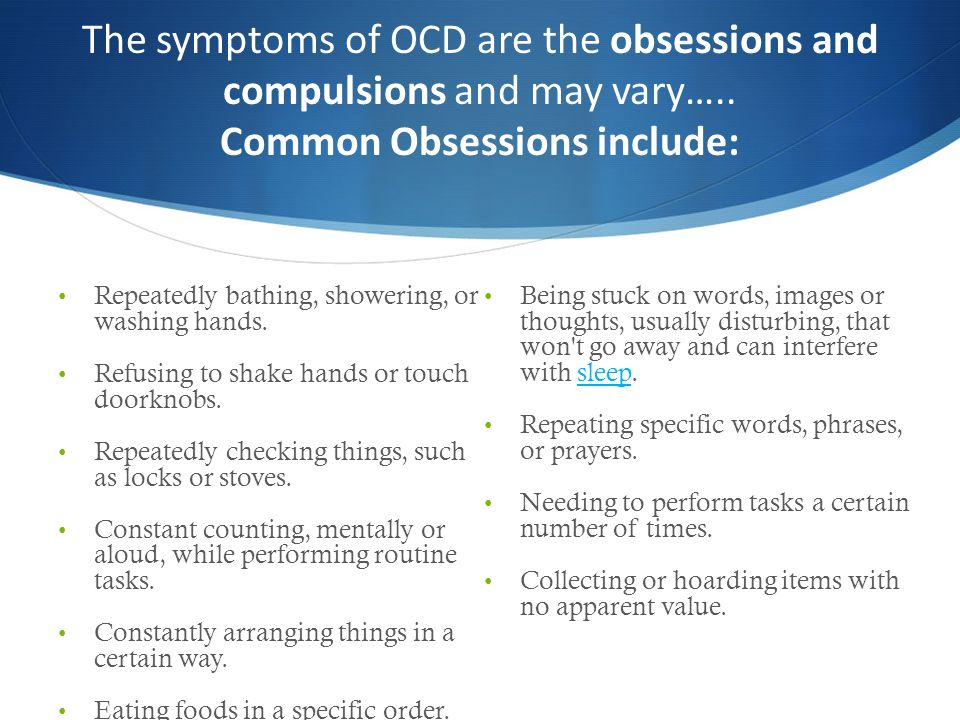 Functional Impairments on Campus OCD Has lead to…….