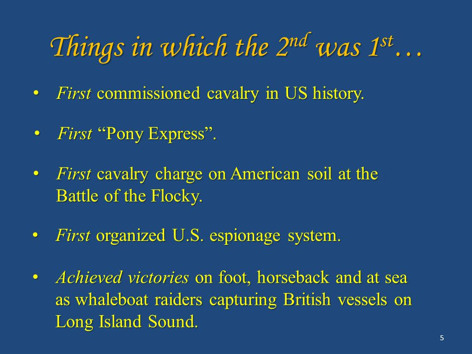 Things in which the 2 nd was 1 st … First Pony Express .