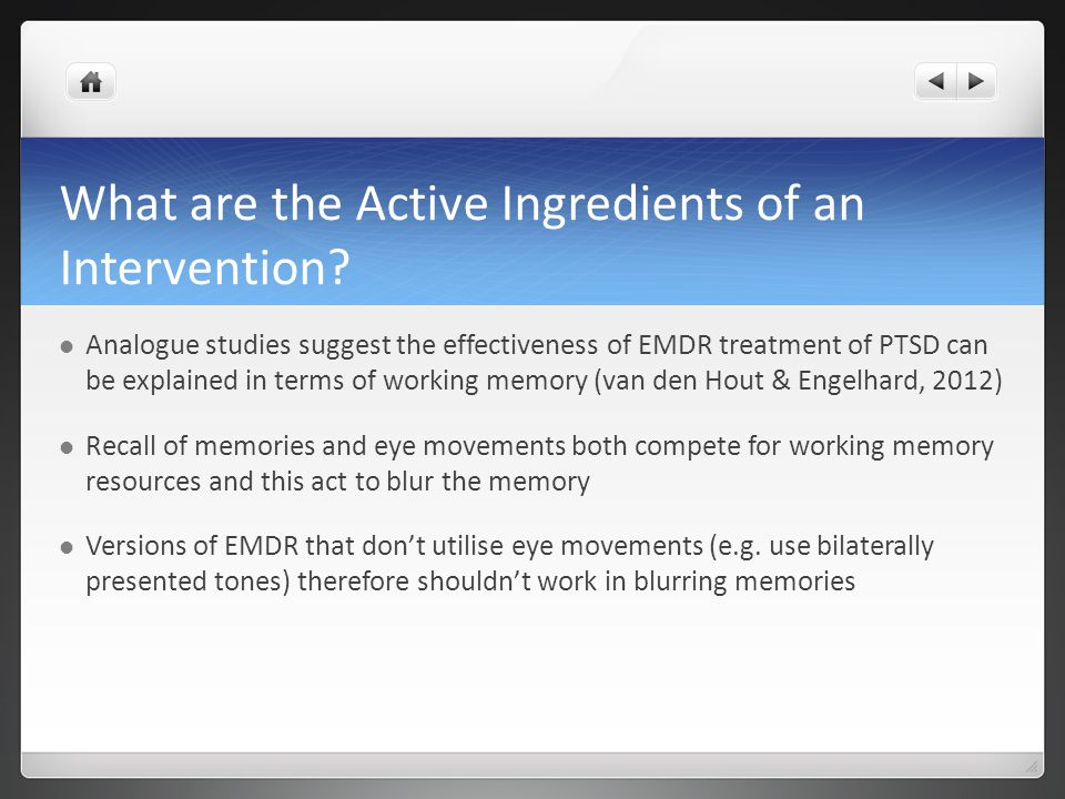 What are the Active Ingredients of an Intervention.