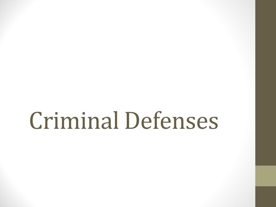 Defenses in Criminal Cases It is the prosecutor's responsibility to prove guilt beyond a reasonable doubt.