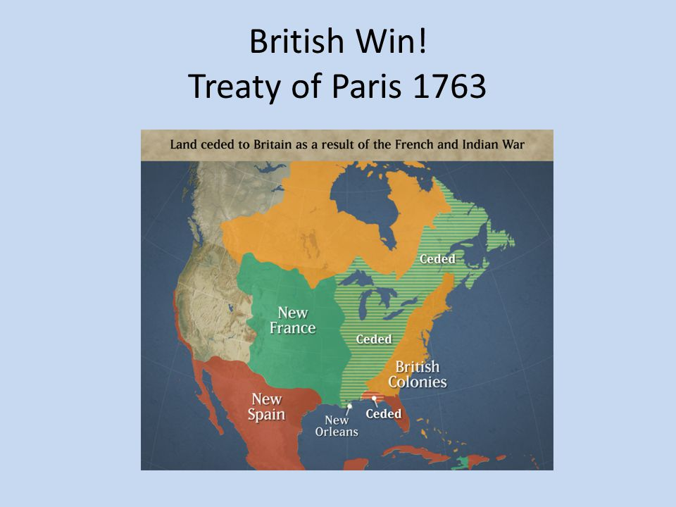 British Win! Treaty of Paris 1763