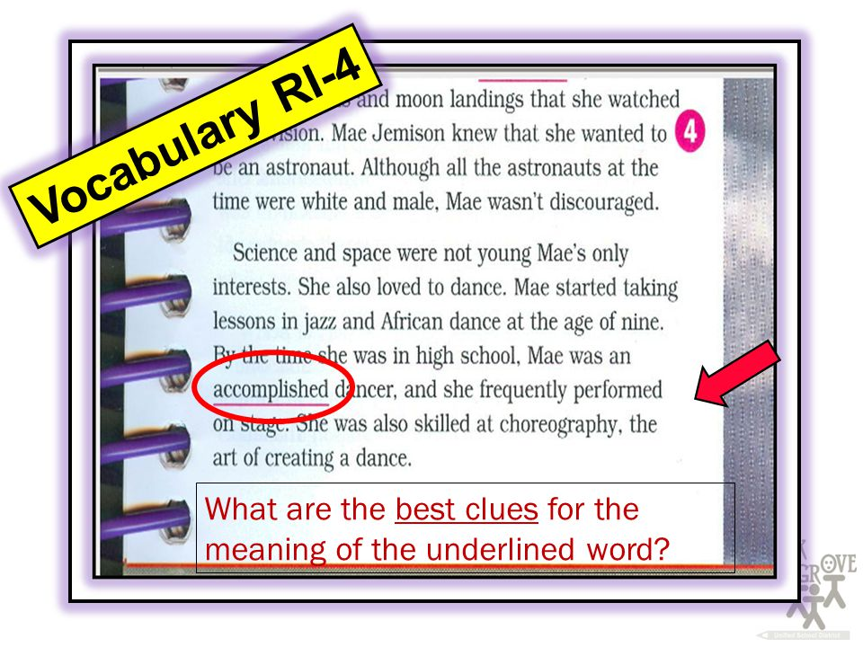 Vocabulary RI-4 What are the best clues for the meaning of the underlined word
