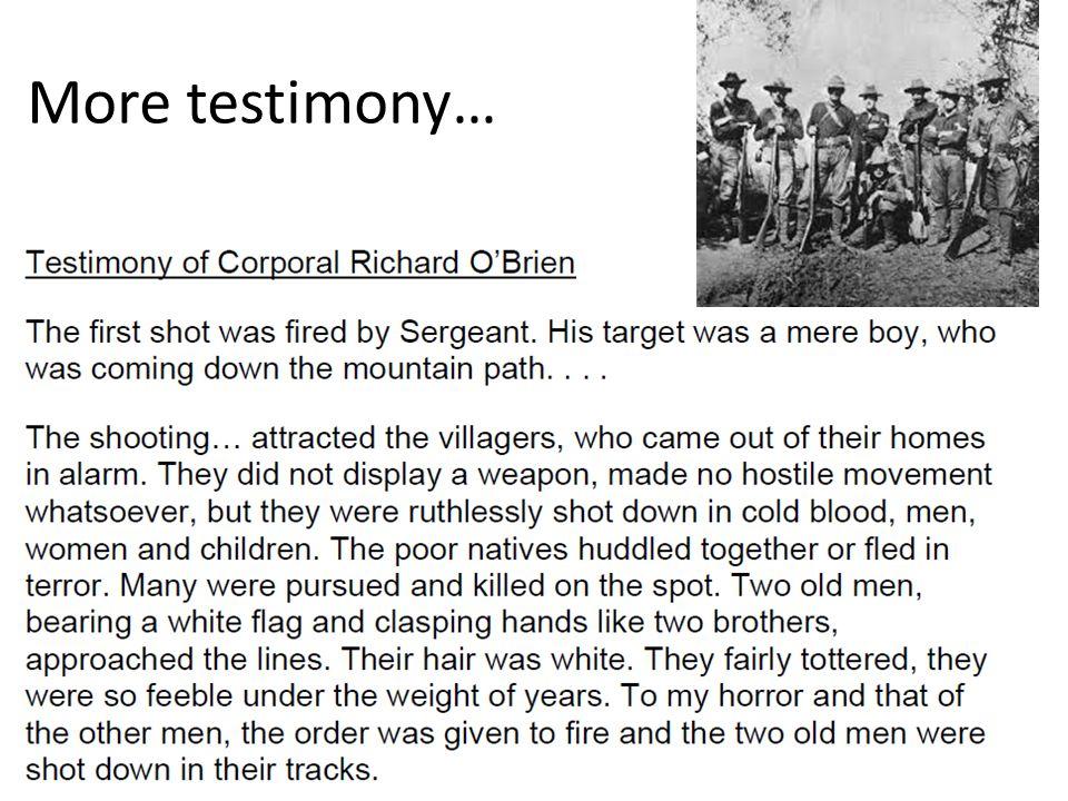 More testimony…