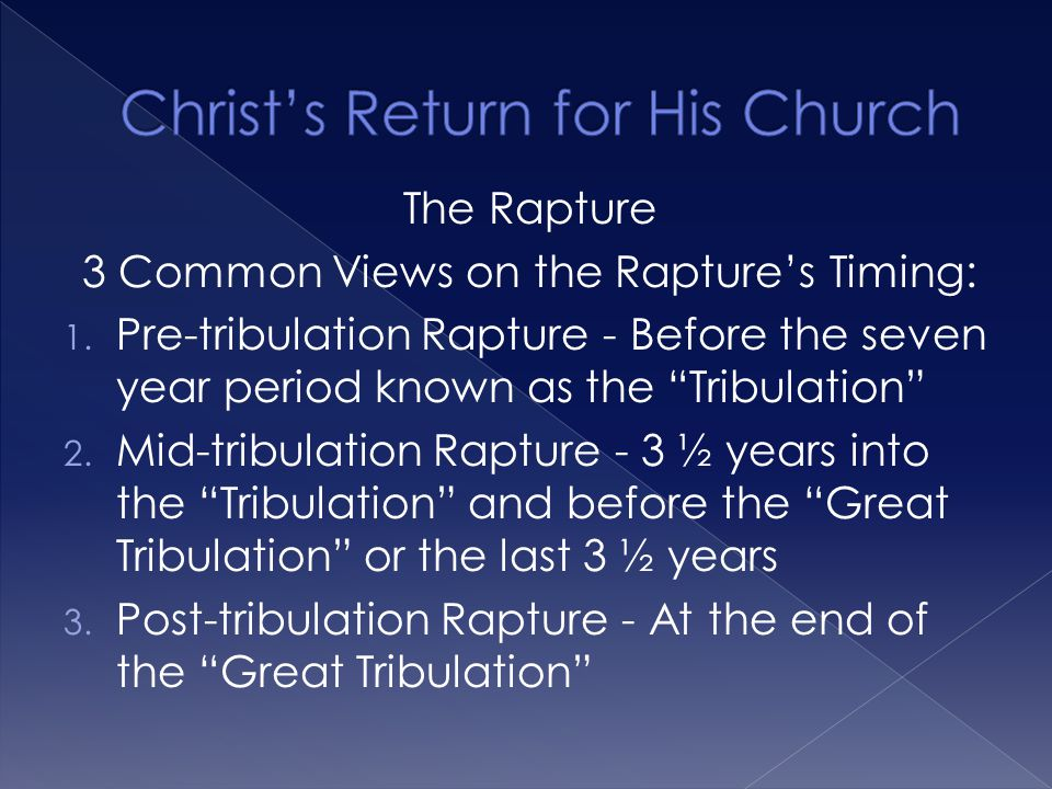  Jesus will return for His church. Believer's have no need to fear.