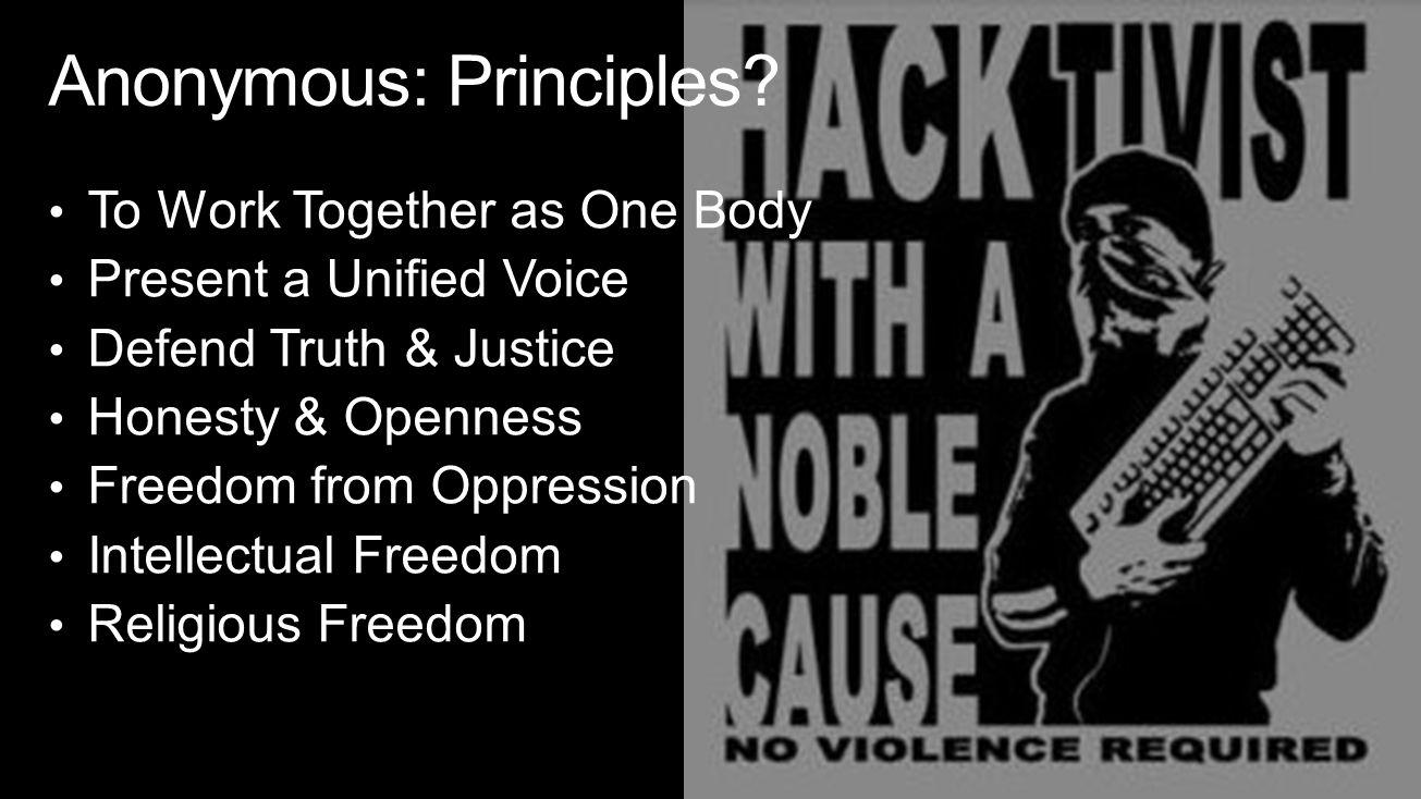 Anonymous: Principles.