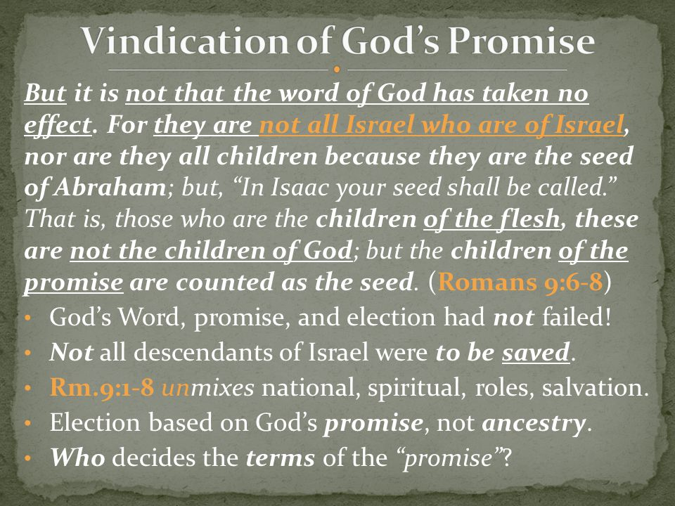 (for the children not yet being born, nor having done any good or evil, that the purpose of God according to election might stand, not of works but of Him who calls), it was said to her, The older shall serve the younger. As it is written, Jacob I have loved, but Esau I have hated. (Romans 9:11-13) Can you answer the Calvinist's use of these verses.
