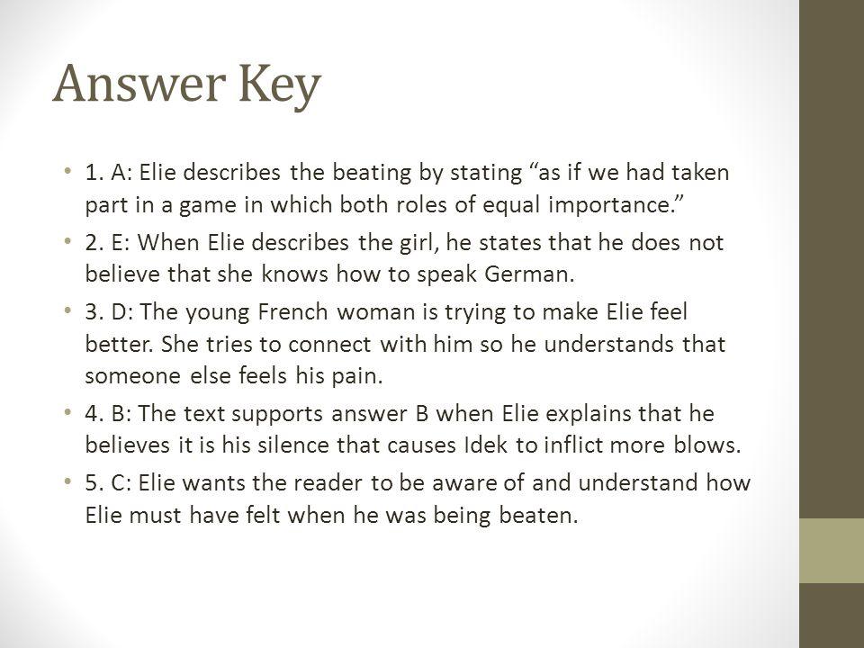 Answer Key 1.