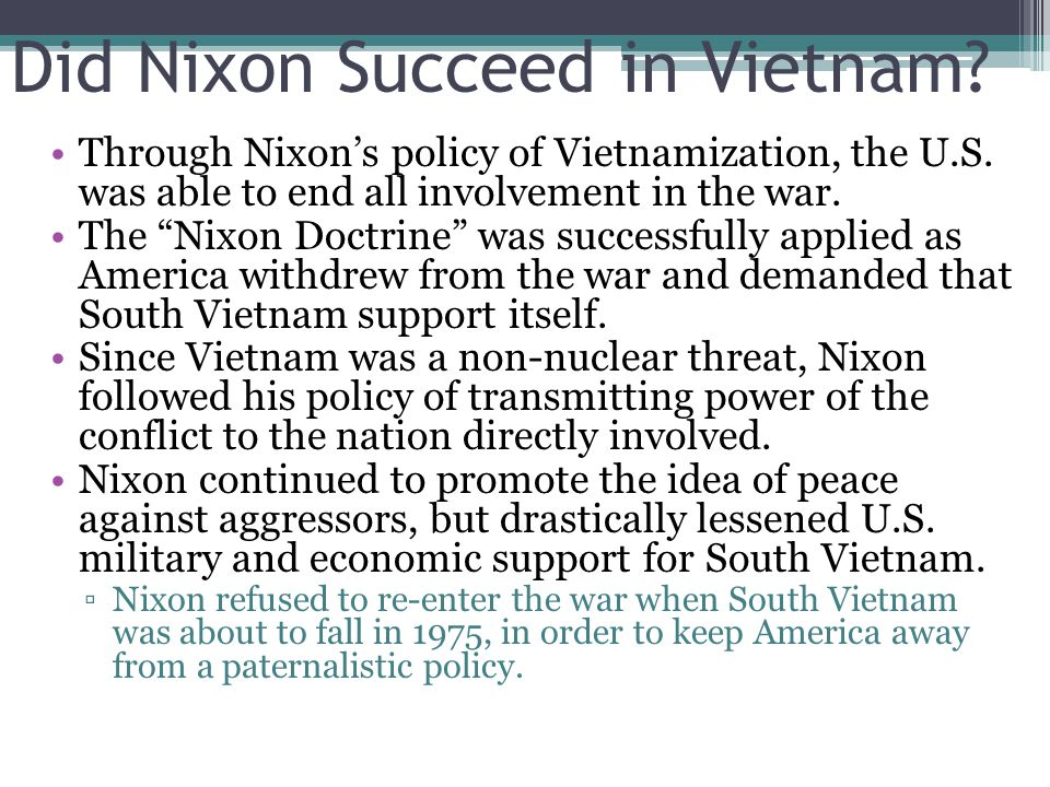 Did Nixon Succeed in the U.S.S.R..