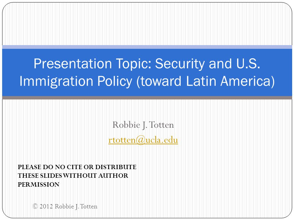 Relevance to U.S.-Latin American Relations & Beyond Obvious relevance: U.S.