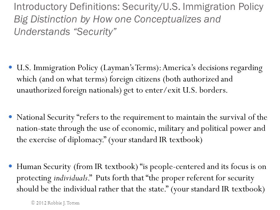 Security and U.S.