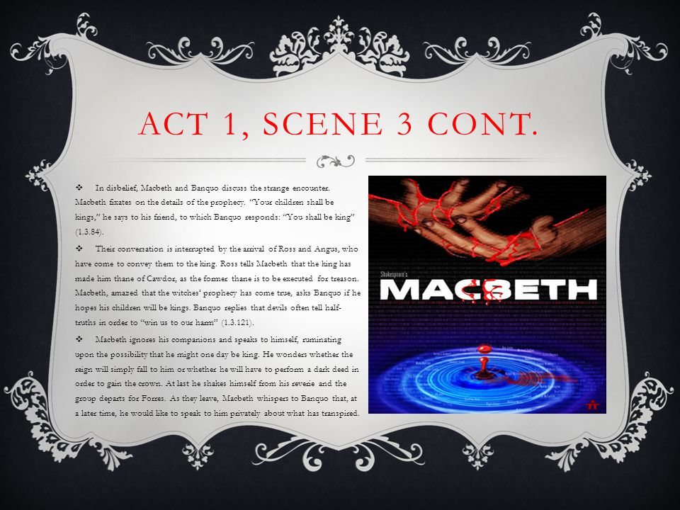  As Macduff enters the king's chamber, Lennox describes the storms that raged the previous night, asserting that he cannot remember anything like it in all his years.