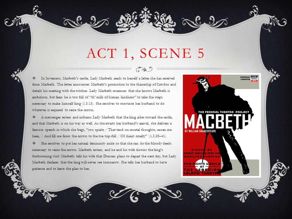 Within the castle, Macbeth blusteringly orders that banners be hung and boasts that his castle will repel the enemy.