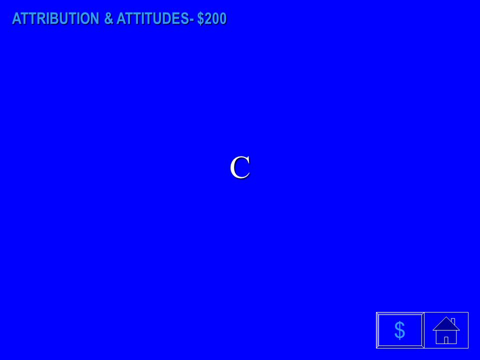 ATTRIBUTION & ATTITUDES - $100 What is the fundamental attribution error? $