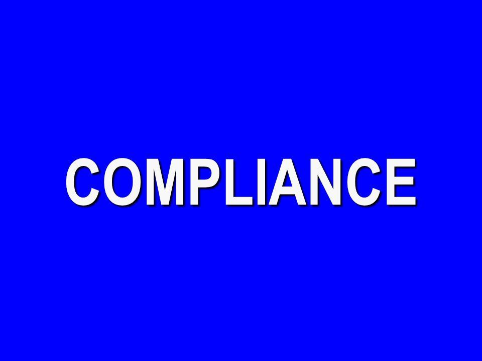 COMPLIANCE - $100 Mrs.