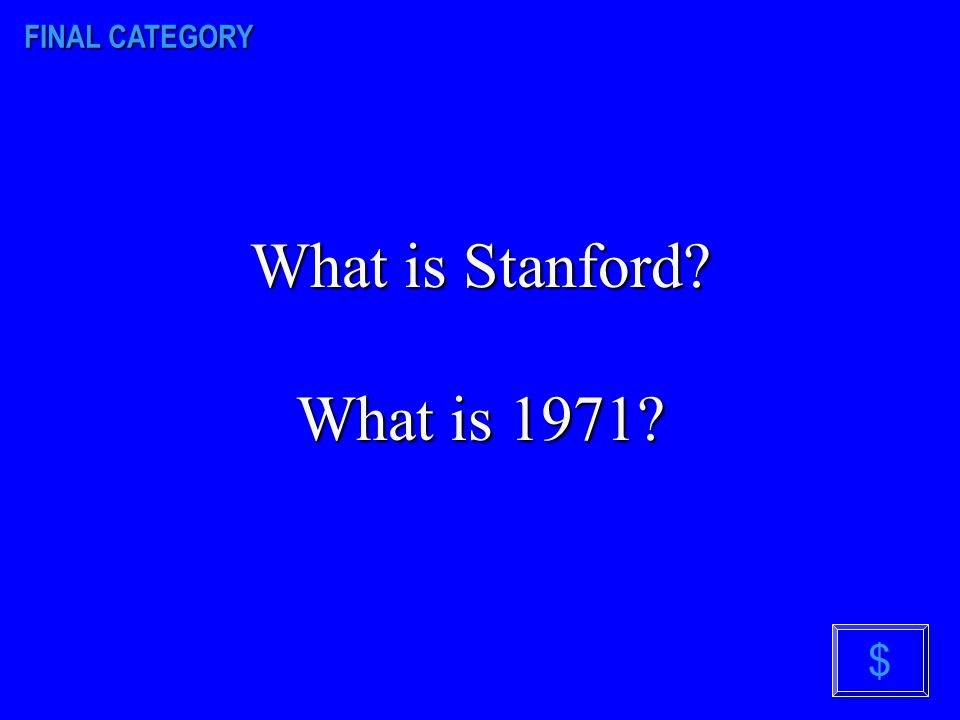 FINAL CATEGORY At what college did Philip Zimbardo conduct his famous experiment? In what decade did this experiment take place? $